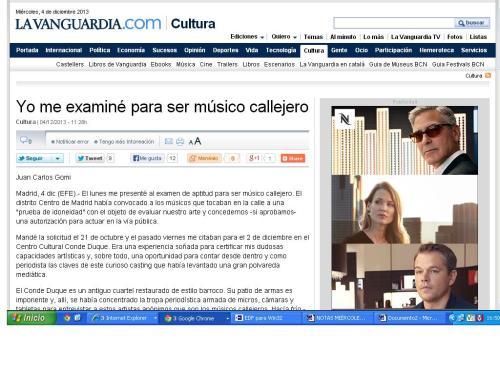 La sección de Cultura de la Vanguardia recoge una muestra más de periodismo gonzo